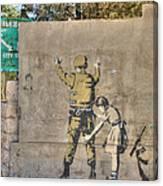 Banksy In Bethlehem 2 Canvas Print