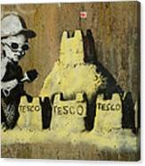 Banksy On The Beach Canvas Print