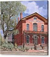 Bannock-montana-hotel Meade Canvas Print