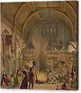 Banquet In The Baronial Hall, Penshurst Canvas Print
