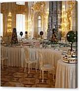 Banquet Room Summer Palace St Petersburg Russia Canvas Print