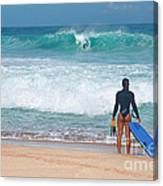 Banzai Pipeline Aqua Dream Canvas Print