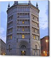 Baptistery Of Parma Canvas Print
