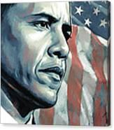Barack Obama Artwork 2 B Canvas Print