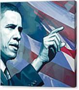 Barack Obama Artwork 2 Canvas Print