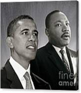 Barack Obama  M L King  Canvas Print