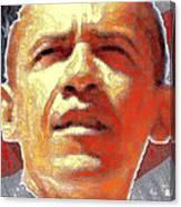 Barack Obama American President - Red White Blue Canvas Print