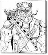 Baragh The Warrior Canvas Print