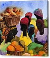 Barbados Market 1  Wi Canvas Print