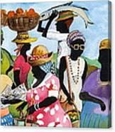 Barbados Market 3  Wi Canvas Print