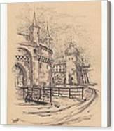 Barbakan Cracow Canvas Print