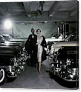 Barbara Mullen With Cars Canvas Print