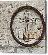Barbed Wire Cross Canvas Print