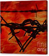 Barbed Wire Love Series  Rage Canvas Print
