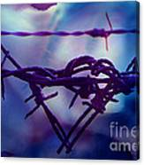 Barbed Wire Love Series The Blues 2 Canvas Print