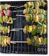 Barbeque Kabobs On Grill Canvas Print