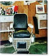 Barber - Barber Chair Front View Canvas Print