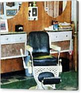 Barber - Barber Shop One Chair Canvas Print