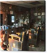 Barber - Barber Shop With Sun Streaming Through Window Canvas Print