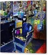 Barber Chair Canvas Print