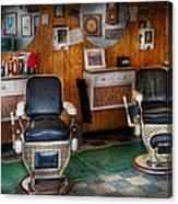 Barber - Frenchtown Nj - Two Old Barber Chairs  Canvas Print
