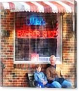 Barber - Neighborhood Barber Shop Canvas Print