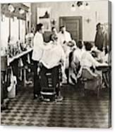 Barber Shop, 1920 Canvas Print