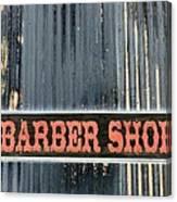 Barber Shop - Photopower Canvas Print