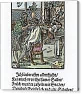 Barber-surgeon, 1568 Canvas Print