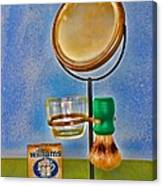 Barber - The Shaving Mirror Canvas Print