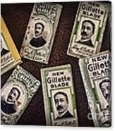 Barber - Vintage Gillette Razor Blades Canvas Print