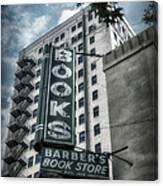 Barbers Book Store Canvas Print