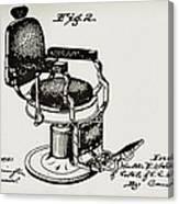 Barbershop Chair Patent Canvas Print