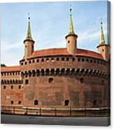 Barbican In Krakow Canvas Print