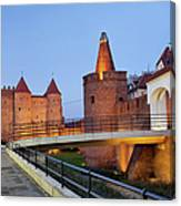 Barbican In The Old Town Of Warsaw Canvas Print
