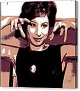 Barbra Streisand - Brown Pop Art Canvas Print