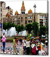 Barcelona - Abstract - Plaza De Catalunia Canvas Print