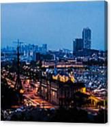 Barcelona At Night  Canvas Print