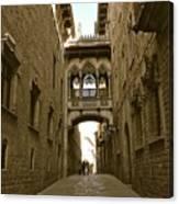 Barcelona Backstreets Canvas Print