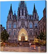 Barcelona Cathedral In The Evening Canvas Print