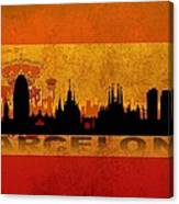 Barcelona City Canvas Print