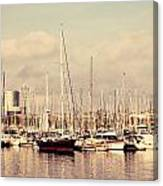 Barcelona Harbor - Vertical Canvas Print