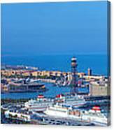 Barcelona Panorama Canvas Print