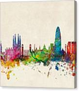 Barcelona Spain Skyline Canvas Print