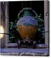 Barcelona Spain Vase Canvas Print