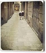 Barcelona Street Canvas Print