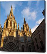 Barcelona's Marvelous Architecture - Cathedral Of The Holy Cross And Saint Eulalia Canvas Print