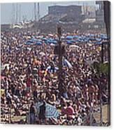Barcelonetta Beach Canvas Print