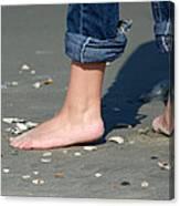 Barefoot On The Beach Canvas Print