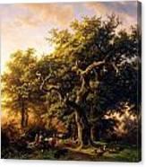 Barend Cornelis Koekkoek Bosgezicht 1848 Canvas Print